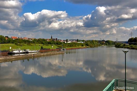 Saarbrücker Stadtbilder - Blick von der Schleuse Luisenthal - Burbach