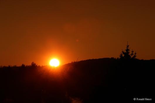 Dezember-Sonnenuntergang